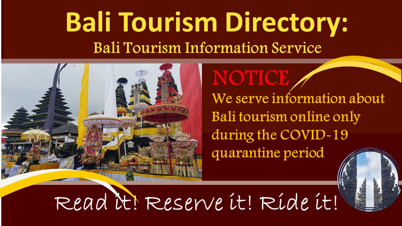 COVID-19 NOTICE Bali Tourism Directory
